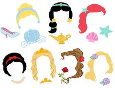 Bildergebnis für disney princess photo booth props FREE printable