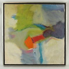 Vintage Mid-century Modern Abstract Oil Painting on Canvas Signed Arnovich #Abstract