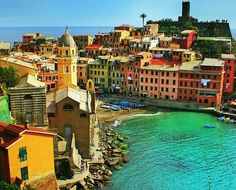 Cinque Terre, Italy.. though now it's technically Tre Terre since two of the cities were destroyed in a mudslide