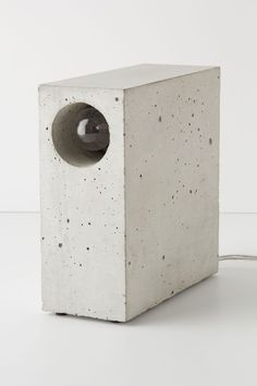 DIY Concrete Lamp.