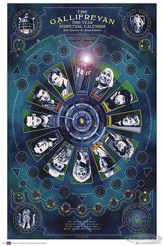 Doctor Who Poster Gallifreyanischer Kalender - Doktor Who's & Tardis | eBay