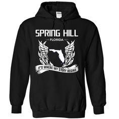 (New Tshirt Choose) Spring hill Florida Its Where My Story Begins at Tshirt United States Hoodies, Funny Tee Shirts