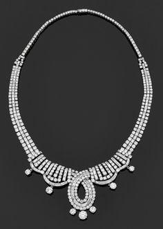 MARCHAK. Rare collier Art Déco. Vers 1930