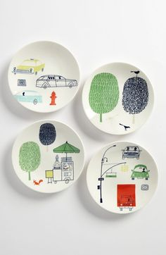 kate spade new york hopscotch drive about town tidbit plates