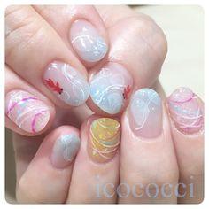 ヨーヨーと金魚✨ #icococci #nail #ネイル #ジェルネイル#gelnail #ネイルアート#nailart #privatenailsalon #instanail #instanails #nailstagram #夏ネイル #金魚ネイル