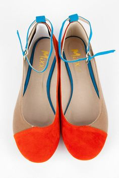 I hope they get these back in, in my size! Roberta Color Block Flats.