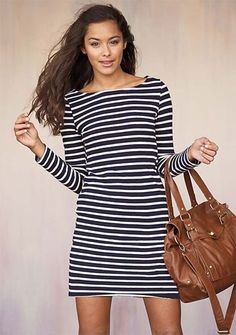 nautical knit dress- I actually bought me this but in red and navy..super cute with wide braided leather belt