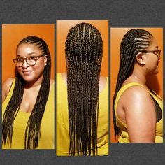 Two layered feed in cornrows @Naturaledgez