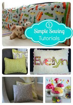 Top 5 simple sewing tutorials from the Seasoned Homemaker [via Somewhat Simple]