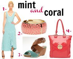 summer colour combinations coral and mint