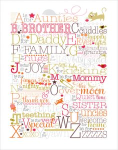 Baby Print for baby's room.