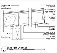 Shed roof overhang detail