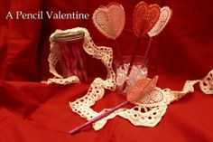 How to make a Pencil Valentine With Glue Dots