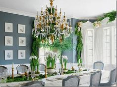 Mary McDonald ~ her former dining room decorated for Christmas