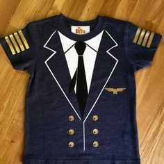 Airplane Pilot Captain shirt, Travel Party, airplane birthday, Photo Prop, first…
