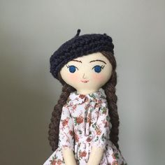 New size Tiny. I had a few requests to recreate this doll from the similar ones I did recently - but I kind of want one for myself! Anyway here she is and I'll see how it goes once I've finished this slowly emerging batch of dolls. #tinyhandmadedolls