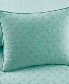 Martha Stewart Collection Basket Stitch Standard Sham (Aqua)