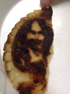 Do You See the Face of Jesus on This Pierogi? ... NO, Frank Zappa!