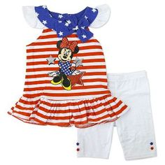 Minnie Mouse Toddler Girls' Top and Bottom Set - White
