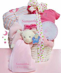 Baby Girl Naptime and Keepsake Gift Basket