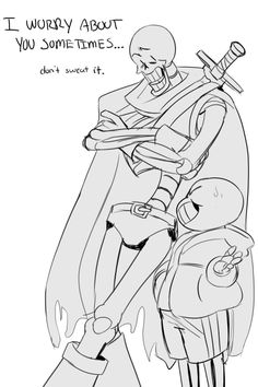 2-ee: i've been trying to design a non-armor design for paps in my royal guard au while also trying to nail the height differences between him and sans, and somehow i settled with a bara skeleton. (5 bucks says papyrus didn't originally start off that tall before getting beefed up, so i guess all that actual training w/undyne is starting to pay off ?)