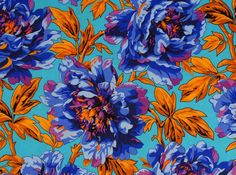 """Philip Jacobs PWPJ069 Tree Peony Blue Kaffe Fassett Collective Designer Quilting 18"""" BTHY Rowan Westminster Half Yard 18"""" Quilt Fabric by KinshipQuilters on Etsy"""