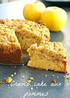 Place à un crumb cake aux pommes, un gâteau moelleux, fruité, avec un topping croustillant... J'ai adoré, à vous de tester!