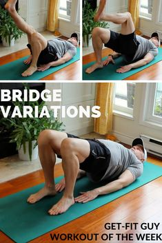 This week we tackle variations of the Bridge to work on hip strength and flexibility. Watch the full video on Facebook! How To Slim Down, Mens Fitness, Flexibility, Bridge, Strength, Exercise, Workout, Facebook, Guys