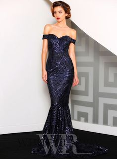 Blake Gown. A stunning full length dress by Jadore. An off shoulder style…