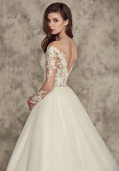 Featured Dress: Calla Blanche; Wedding dress idea.