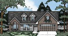 Country House Plan with 1478 Square Feet and 3 Bedrooms from Dream Home Source | House Plan Code DHSW28520