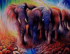 Digital paintings by Muraleedharan t via Behance