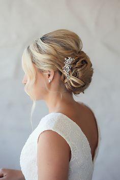 Linden Hair Comb | Best seller | Gold, pearl and crystal | Petals & Stones | $67 www.shoppetalsandstones.com