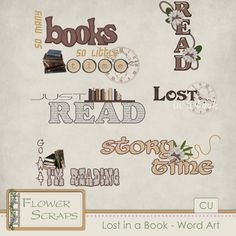 Lost In A Book Word Art - $1.39 : Digital Scrapbooking Studio