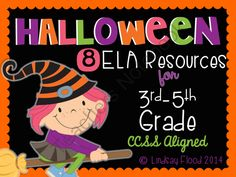 Halloween for Big Kids 3rd, 4th, 5th Grade ELA from PrimaryPolkaDots on TeachersNotebook.com -  (45 pages)  - Halloween for Big Kids 3rd, 4th, 5th Grade ELA