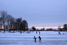 Patinaje sobre hielo, en Holanda