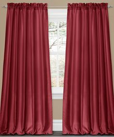 Take a look at this Red Lucia Window Curtains - Set of Two by Lush Décor on #zulily today!