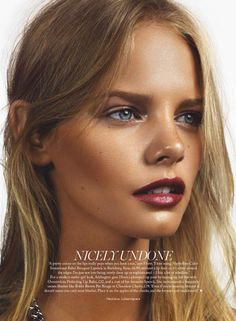 thebeautymodel:Marloes Horst by Jonas Bresnan for Marie Claire UK