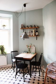 Grey and white eat in kitchen. Styling and photography by Nanna van Berlekom