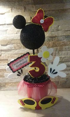 Minnie Mouse Centerpieces by mariscraftingparty on Etsy