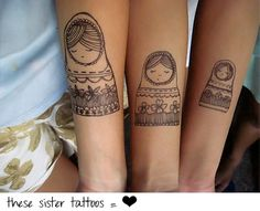 sister tattoos....@Tia Guy @April Marquardt....I could have tried to talk you into these = )