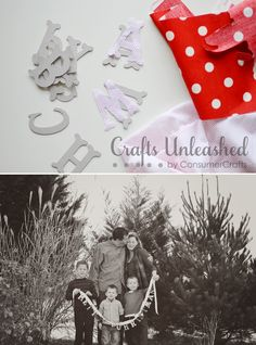 DIY Merry Christmas Banner for Family Photos by Amy Renea