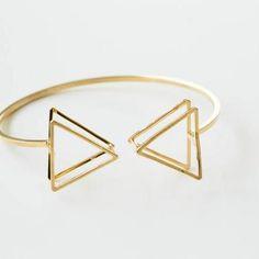 2 line triangle box bangle ..