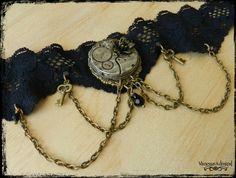 Exquisite Steampunk Black Rose Clockwork Choker Antique Watches, Black Velvet, Steampunk, Crochet Necklace, Lyrics, Chokers, Bronze, Charmed, Songs