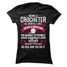 CROCHET MAGICIAN - #christmas tee #grey sweatshirt. I WANT THIS => https://www.sunfrog.com/Funny/CROCHET-MAGICIAN-Ladies.html?68278