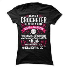 CROCHET MAGICIAN - #christmas tee #grey sweatshirt. I WANT THIS => https://www.sunfrog.com/Funny/CROCHET-MAGICIAN-Ladies.html?68278