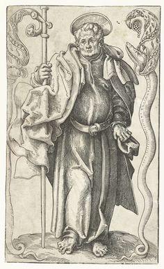 Filippus met kruis en slang, Lucas Cranach (I), 1510 - 1515 - Rijksmuseum Lucas Cranach, Old Master, Vintage Prints, Workshop, Symbols, Snakes, Drawings, Tattoos, Atelier