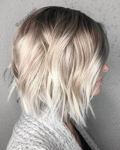20 Latest Short Choppy Haircuts for Textured Style: #9- Blonde Ombre Bob