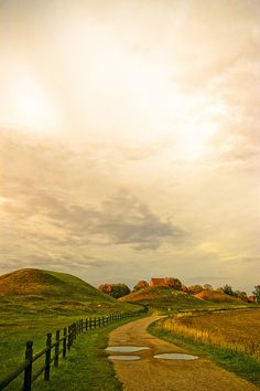 """Then came the sun. She was so bright that she bathed the earth with a golden light..."" -The Creation of the World (Sweden - Viking mounds)"