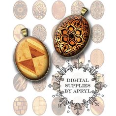 Copper Textures 30 x 40 mm Oval Digital Collage Sheet for Glass and Resin Pendants Magnets Paper Craft JPG and PNG P0004